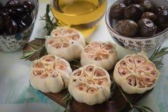 Lampadine arrostite dell'aglio Fotografia Stock Libera da Diritti