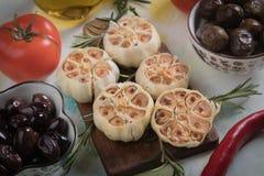 Lampadine arrostite dell'aglio Fotografia Stock