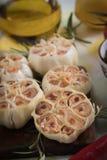 Lampadine arrostite dell'aglio Fotografie Stock