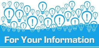 Lampadine blu del fondo di For Your Information sulla cima royalty illustrazione gratis