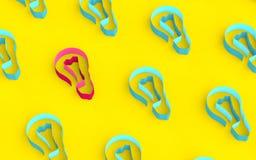 Lampadine dal nastro nei colori vibranti Fotografia Stock