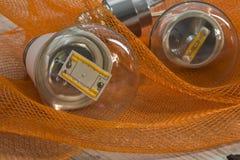Lampadine di E27 LED con potere differente ed i chip Immagine Stock
