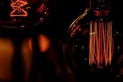 Lampadine di edison del filamento d'annata antico decorativo di stile fotografia stock