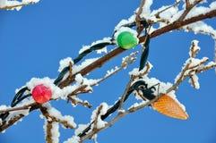 Lampadine di Natale Fotografie Stock Libere da Diritti