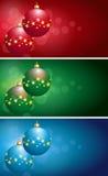 Lampadine di Natale Immagini Stock