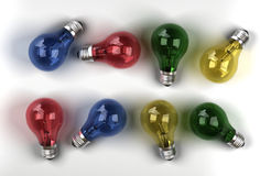 Lampadine Multi-colored Immagine Stock