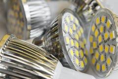 Lampadine principali GU10 con 3 il chip SMD Fotografia Stock