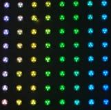 Lampadine variopinte Fotografia Stock