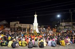 Lampah Ratri. One of the traditional rituals in Yogyakarta, Indonesia Royalty Free Stock Photo
