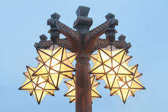 Lampan är som stjärnaform Arkivfoto
