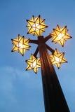 Lampan är som stjärnaform Royaltyfri Bild