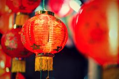 Lampan av det kinesiska nya året, kinesiska lyktor Fotografering för Bildbyråer