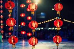 Lampan av det kinesiska nya året, kinesiska lyktor Royaltyfri Bild