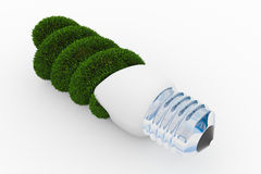 lampan för energigräsgreen gjorde sparande Arkivbilder