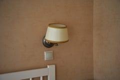 Lampan på väggen Arkivfoton