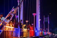 LAMPANG, ΤΑΪΛΑΝΔΗ - στις 22 Νοεμβρίου 2018: Παρουσιάστε και ανάψτε colorfu στοκ εικόνες