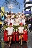 LAMPANG, ТАИЛАНД - 13-ОЕ АПРЕЛЯ 2011: Шествие Salung Luang и фестиваль Songkran в провинции Lampang северной Таиланда Стоковые Изображения RF