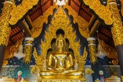 Lampang Buddha avbildar i tempel av Thailand, ` Amphoe Mae Tha, Lampang, Thailand för jhanaen för PA för `-watdoien Arkivfoto