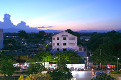Lampang Evening Scene Royalty Free Stock Image