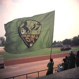Lampang FC橄榄球旗子 库存图片