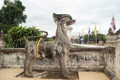 Lampang- Luang tempel Royaltyfri Fotografi