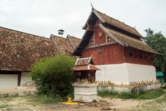 Lampang- Luang tempel Arkivfoton