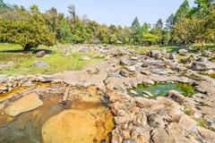 LAMPANG TAILÂNDIA 21 DE FEVEREIRO: Paisagem de Chae Son Hot Spring Imagem de Stock