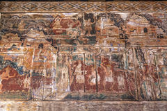 LAMPANG TAILANDIA 20 de octubre: De madera mural tailandés en Wat Phra That Lampang Luang Provincia de Lampang el 20 de octubre d imagenes de archivo