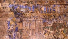 LAMPANG TAILANDIA 20 de octubre: De madera mural tailandés en Wat Phra That Lampang Luang Provincia de Lampang el 20 de octubre d Imagen de archivo libre de regalías