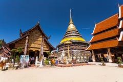 LAMPANG TAILANDIA 20 de octubre: Pagoda de Wat Phra That Lampang Luang Lanna en Lampang, Tailandia el 20 de octubre de 2015 en LA imagen de archivo libre de regalías