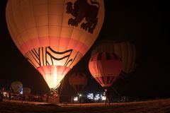 LAMPANG, TAJLANDIA LUTY 10, 2018: Lampang balonu fiesta 2018 Obrazy Royalty Free