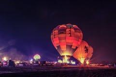 LAMPANG, TAJLANDIA LUTY 10, 2018: Lampang balonu fiesta 2018 Zdjęcie Royalty Free