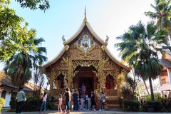 Wat Phra That Lampang Luang. Lampang, Thailand - December 23, 2017:Ancient Buddhist temple of `Wat Phra That Lampang Luang` isThe temple of the Holy Relic of royalty free stock images