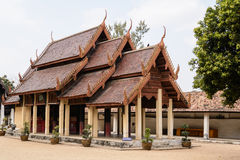 LAMPANG, THAILAND-DECEMBER 18 2014 :Wat pra that Lampang Luang. The most beautiful temple of Lampang, located in Ko Kha District, some twenty kilometres stock image