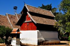 Lampang, Thailand: Library at Thai Wat Royalty Free Stock Image
