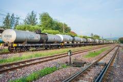 LAMPANG, THAILAND - MAY 29,2016 : Railroad and train cargo cars Royalty Free Stock Photo