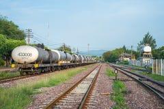 LAMPANG, THAILAND - MAY 29,2016 : Railroad and train cargo cars Royalty Free Stock Image
