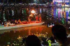 LAMPANG, THAILAND - On November 22, 2018: Show and Light colorfu royalty free stock image