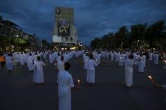 LAMPANG THAILAND - Oktober 13,2017 Arkivbild
