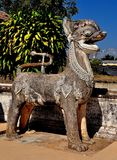 Lampang, Thailand: Thai Temple Carved Animal Statue Stock Image