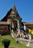 Lampang Thailand: Wat Phra That Lampang Luan Stock Afbeeldingen