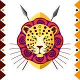 lampart afrykański Afryka zwierzę w koloru wzoru wektoru ilustraci Zdjęcie Stock