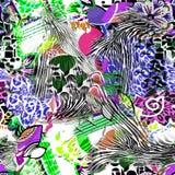 Lamparta i zebry tło Obraz Royalty Free