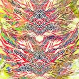 Lamparta i zebry tło Zdjęcia Stock