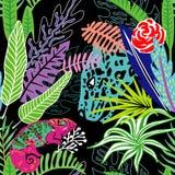 Lamparta kameleonu spotkania wzór ilustracja wektor
