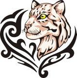 Lamparta tatuaż Obrazy Royalty Free