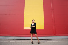lampasa horyzontalny kolor żółty Fotografia Stock