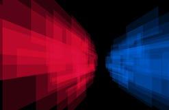 Lampasa tła perspektywiczna czerwień i błękit ilustracji