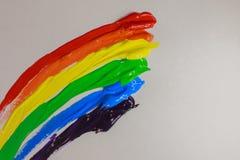 Lampasy stubarwni kolory mażący jak tęcza zdjęcia royalty free
