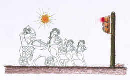 lampatrafik stock illustrationer